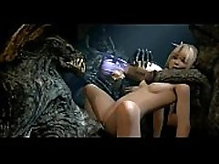 【Awesome-Anime.com】3D Anime - Marie Rose fucked by monsters from Dead or alive