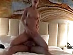 Hot babe rides big cock and gets creampied