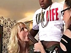 Cougar with Big Tits Seduces Young Black Guy 28