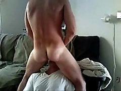 Sucking Off A Straight Bull Live on son doggie mom in bathroom.HornyBroCam.com
