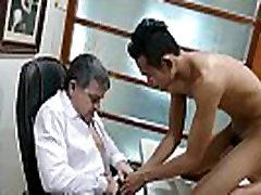 Asian twink blows boss at salary negotiation