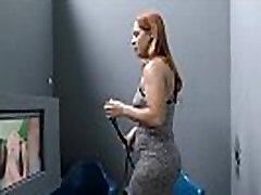 Redhead gets bbc creampie