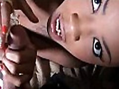 In nature&039s garb black chick poses on web camera