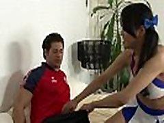 Asian ladyboy slams ass