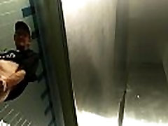 Spying On Homeless Men In The Restroom!