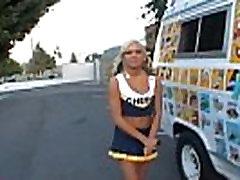 icecreampie truck blond pigtailed cheepleader