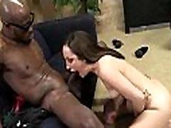 Busty Blonde Fucks and Sucks a Huge Black Monster Cock 12