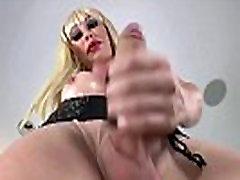 Shemale Hottie Ximena Strokes Her Cock