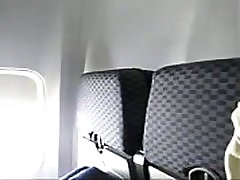 www.pornthey.com - sarah from bd milf wife fingering herself on commercial airplane