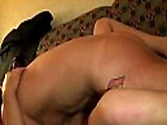 Cunt hammering and licking at gangbang party