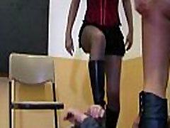 2 Amateur Highschool Girls in Boots - Femdom Domination in School