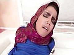 Arab teen gets creampied