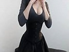 Beautiful gothic Boobs show