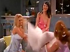 Mila Kunis Jessica Simpson and Laura Prepon Sexy Pillow Fight