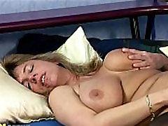 Busty big nado rubbing her pussy