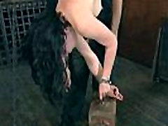Torturing gal with sex tools