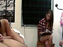 College couple fucking while teens watch