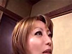 Reiko Kagami saggy tits homemade housewife mature Asian babe in sexy costume