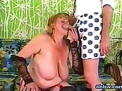 Classic rica mami MILF Sucks Monster Cock - 8bbw.com