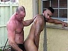 Mature Mickey Collins bites great Rikk Yorks ass