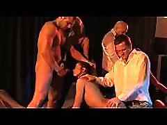 Submissive Cecilia Vega anal in brutal orgy