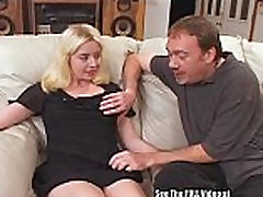 Cutie blonde Jassy taught to swallow loads of cum