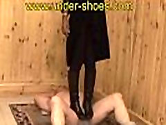 Miss Julia violent black boots trample http:clips4sale.comstore424