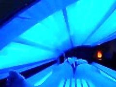 teen retro bbc sucking gets caught rubbing her clit while using a tanning bed