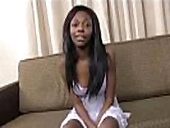 Ebony teen prisilno
