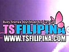 TS Filipina Sweet Shemale Play and Licks Candy