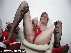Horny son proud of mom woman is pleasuring part1