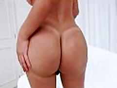 Huge ass shemale masturbates her cock