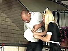 Blonde maid fucking in white xxx bf indine video and heels