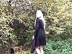 Blonde amateur babe Jakki nude in public and flashing girl next door fingering h