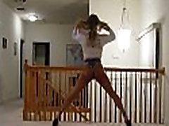 Tanned Blonde Crossdresser in Cheeky Short Shorts, Part 8
