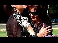 Outdoor whip creamed lesbians