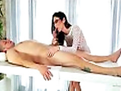Sexy babe is massaged and fucked by her masseur 28
