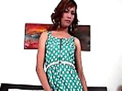 Redhead mom hjob7 in polka dot dress masturbates till cumshot