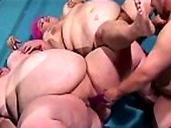 Two Fat Lesbians Suck Midget Cock