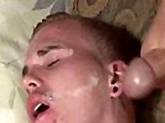 Gay twinks Tyler Blue facialed in Goo