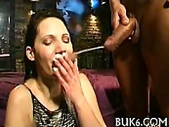 Group pissing on lusty gal