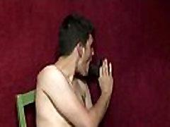 Interracial handjob with horny gays 18