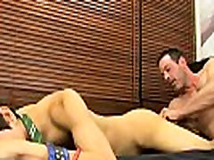 Naked men Mike binds up and blindfolds the youthfull Spaniard before