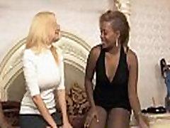 Ebony lesbians got a white chick