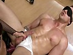 Female domination with muscle boy and hooker