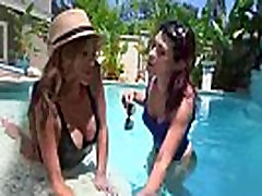 Lots Of Kiss And Licks From Cute Lovely Lesbians clip-11