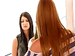 Beautiful teen lesbos fingering