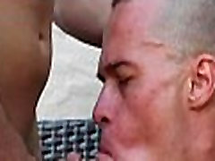 Gays lick ramrods and cum