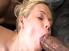 Tight Teen Blonde Gets 2 Super Thick Choclate Sticks