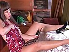 Horny janda ketawa gal fingers and toys her wet hairy pussy
